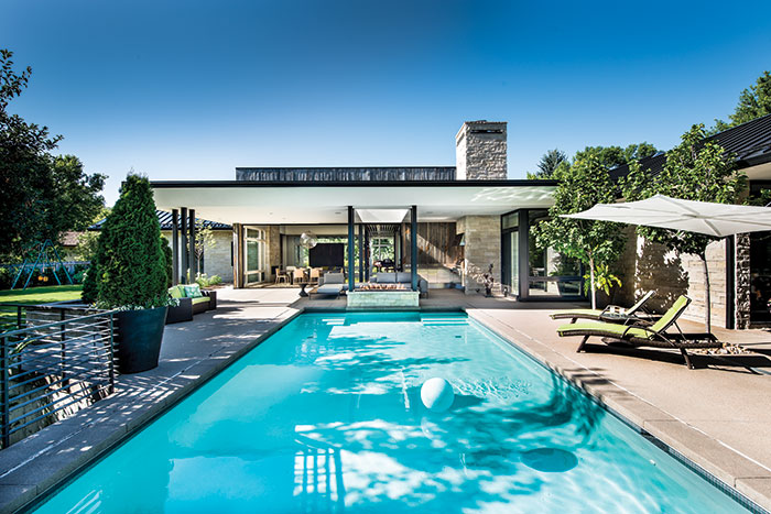 Pool And Patio A Family Haven With Breathing Room And Plenty Of Splash Nest Architectural Design Denver Colorado
