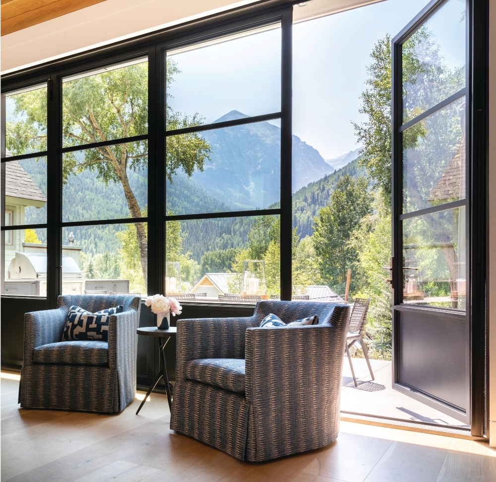 Telluride Home Living Room Views