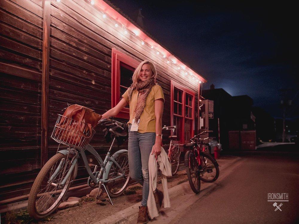 Filmmake Rjenny Nichols On Bike, Photo Credit Ironsmith