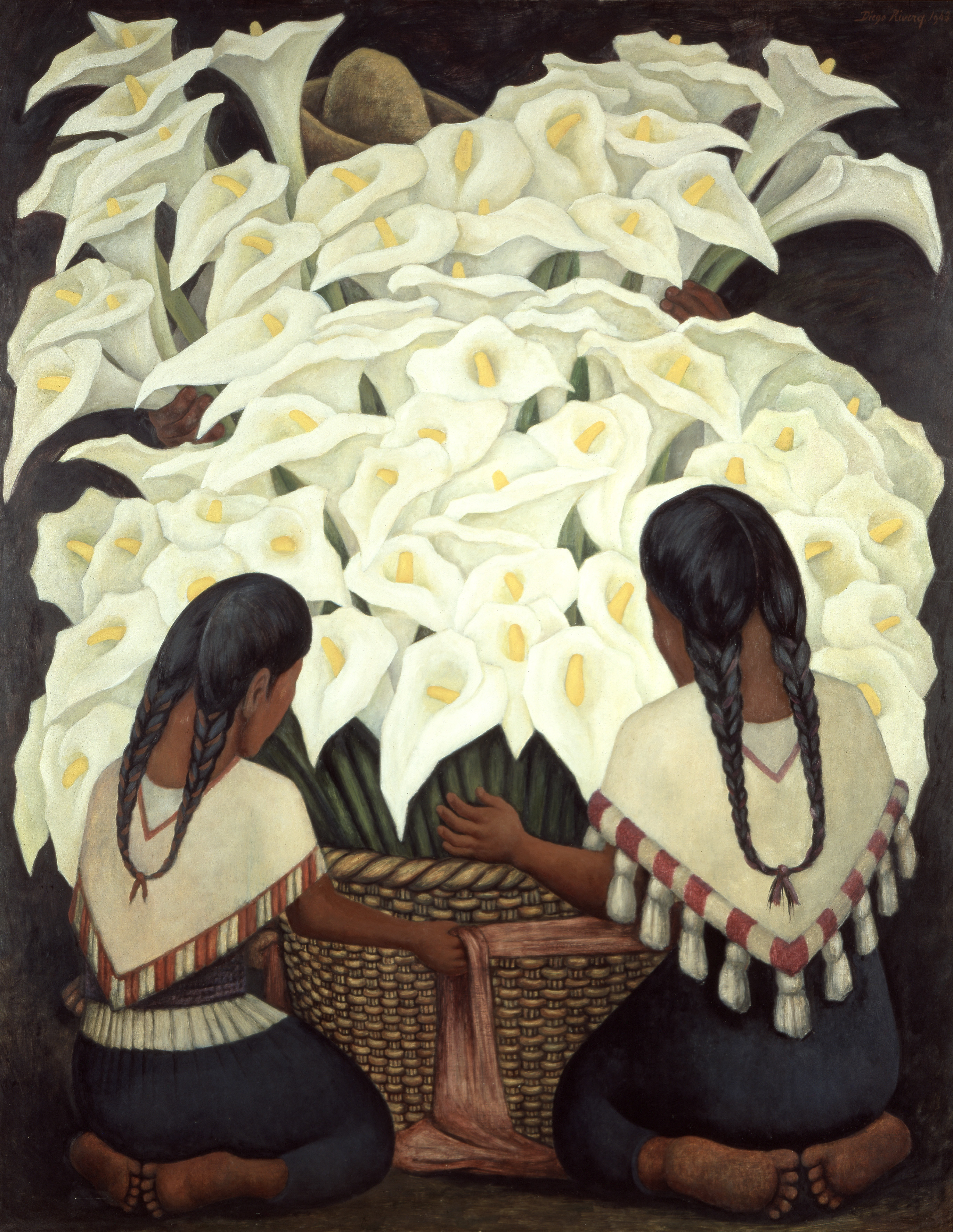 Diego Rivera Calla Lilly Vendor, 1943