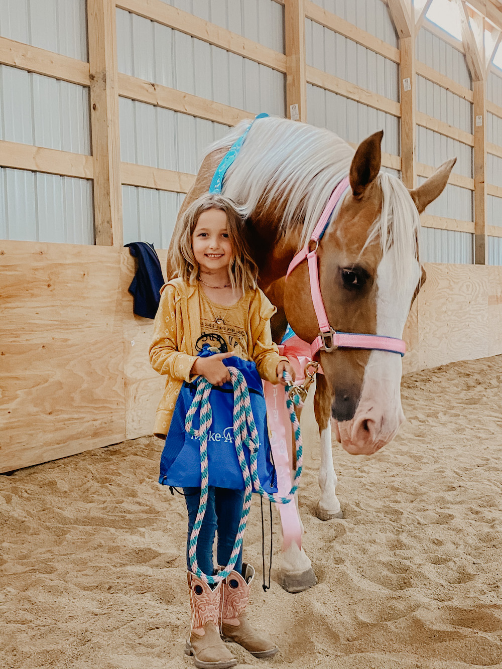 Wish Kid Peyton With Horse