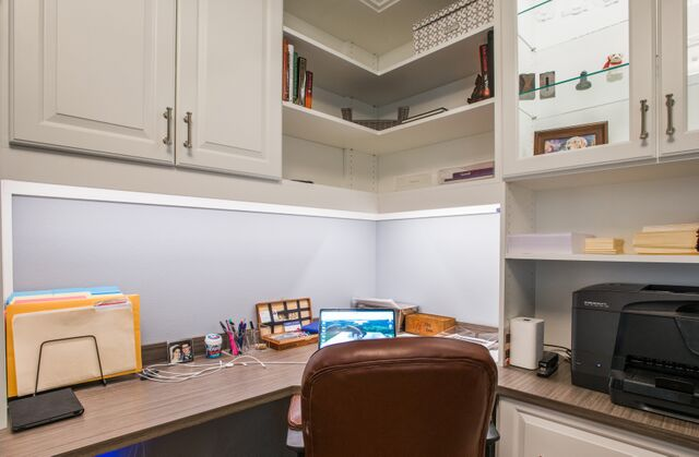 Office Lighting Under Cabinet And Puck Lighting In Cabinet