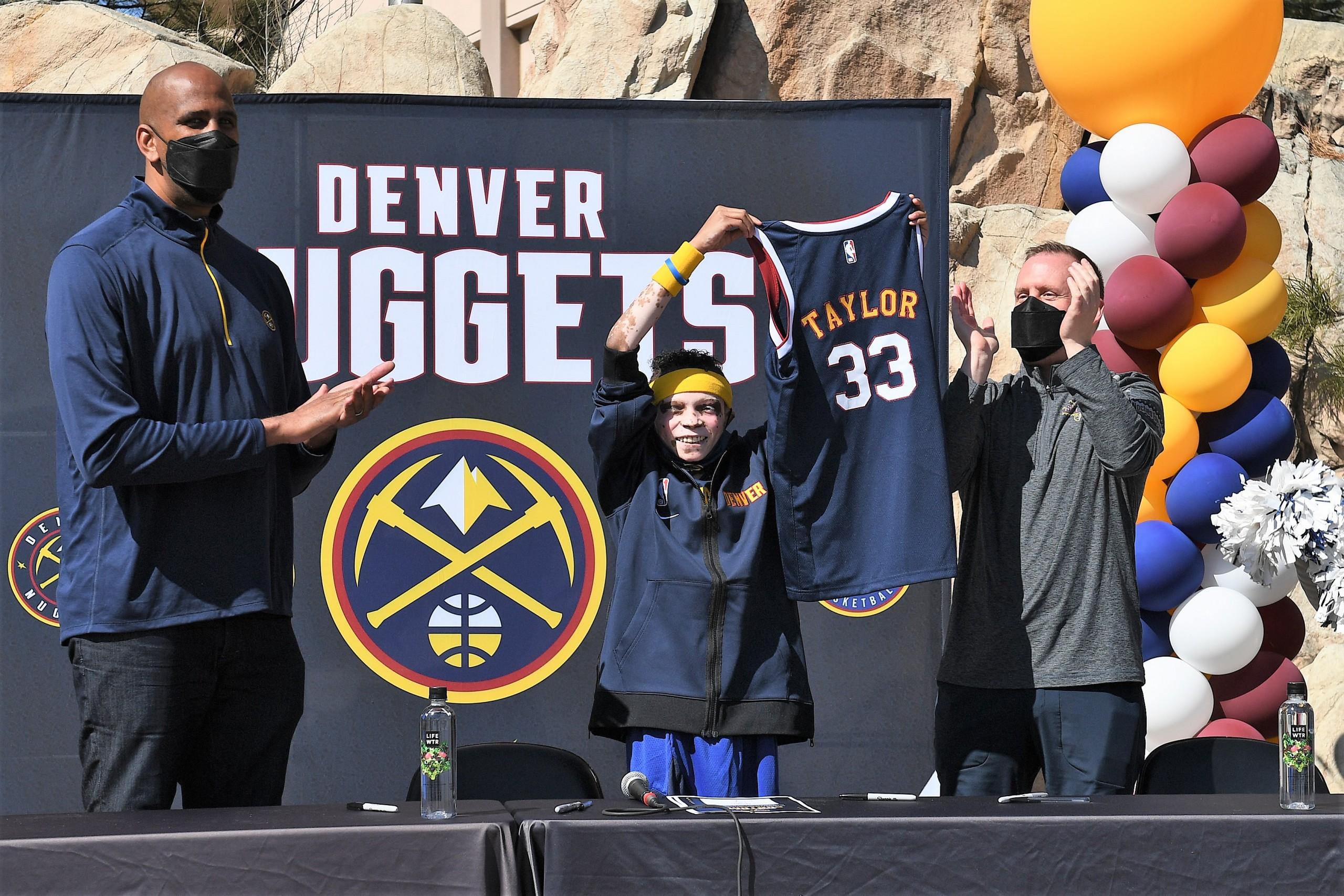 Denver Nuggets Host Òmake A WishÓ Honory Taurean Taylor