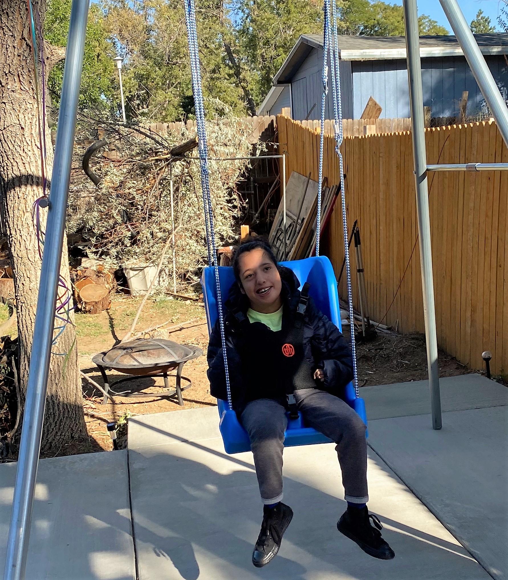 Leanna On Swing