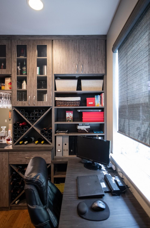 Leslie Klinck 28th Ave Wine Bar Home Office 15