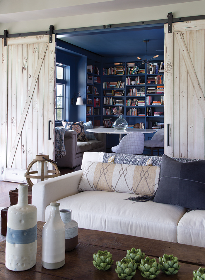 Library, Ashley Campbell Interiors, Colorado Homes and Lifestyles magazine