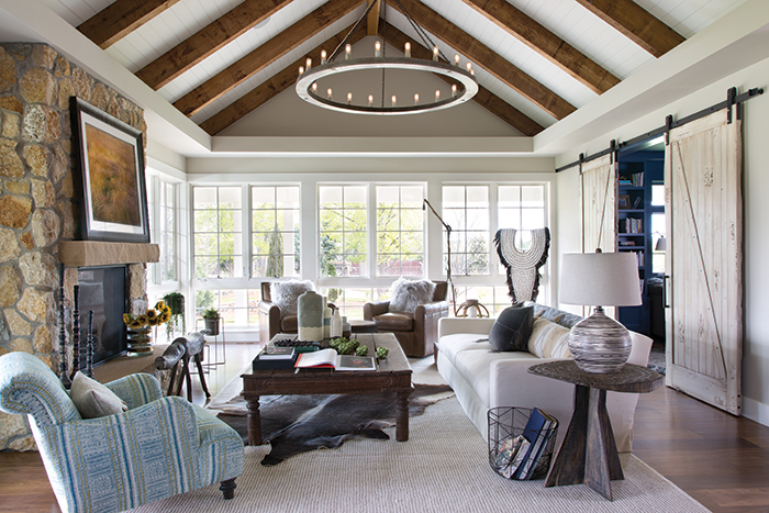 Living room, Ashley Campbell Interiors, Colorado Homes and Lifestyles magazine