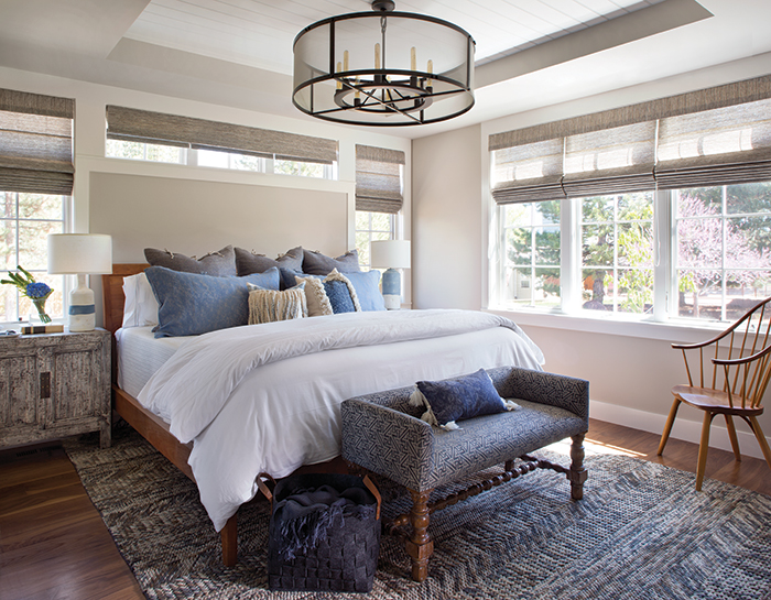 Master bedroom, Ashley Campbell Interiors, Colorado Homes and Lifestyles magazine